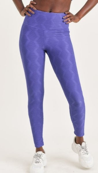 Leggings - Textured Sectional Ribbed Jacquard TACTEL Highwaist