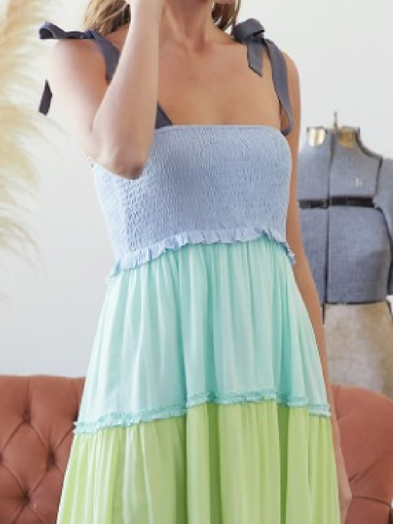 Stepping Out Smocked Maxi Dress