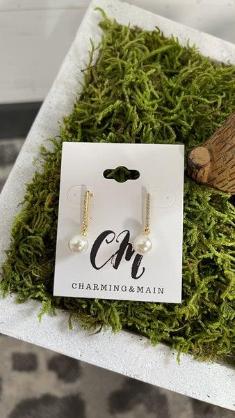 Drop Pearl Bead Earrings