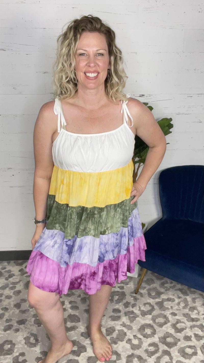 Hawaiian Ice Tie Dye Mini Dress