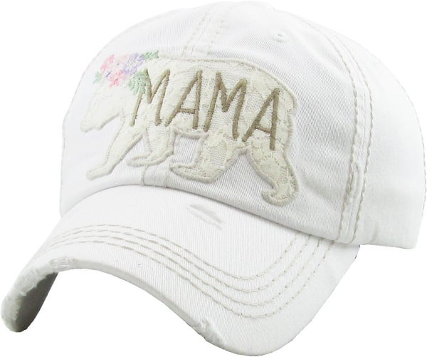 Mama Bear Lace Patch Vintage Ballcap