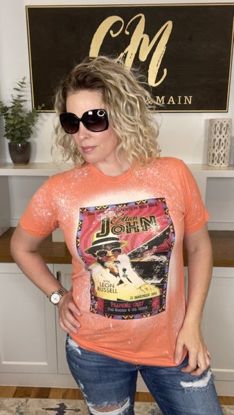 Elton John Bleach Splattered Tee