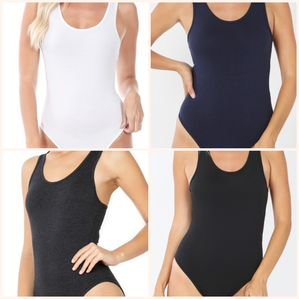 Racer Back Tank Body Suit with snap closure