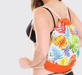 Beach Towel Drawstring Bag All-in-One