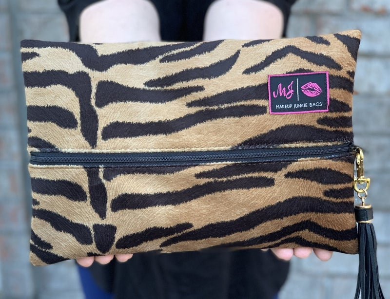 Tiger Makeup Junkie Bags