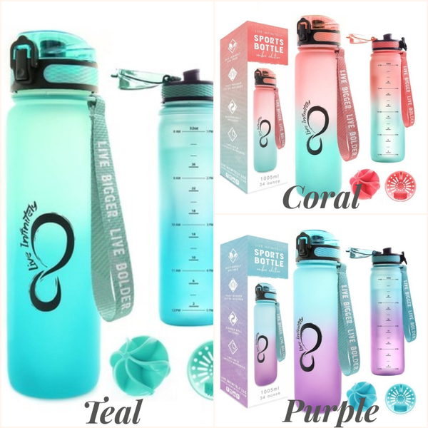 34oz Timeline Marked Sports Water Bottle Ombre Edition