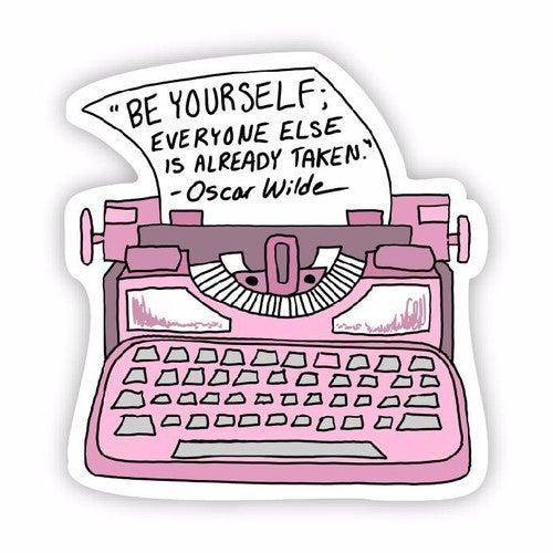 Inspirational Type Writer Stickers