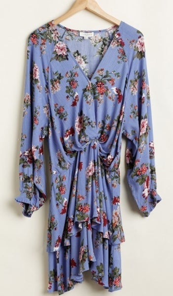 Floral Tiered Ruffle Hem Dress