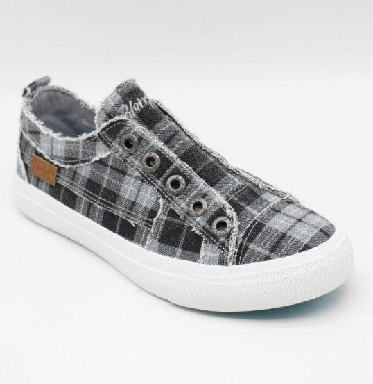 Blowfish Gray Plaid Slip-on Sneaker