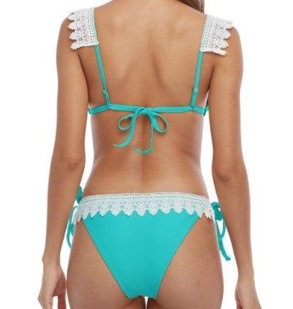 Lace Triangle Cheeky Bikini Set S-XL