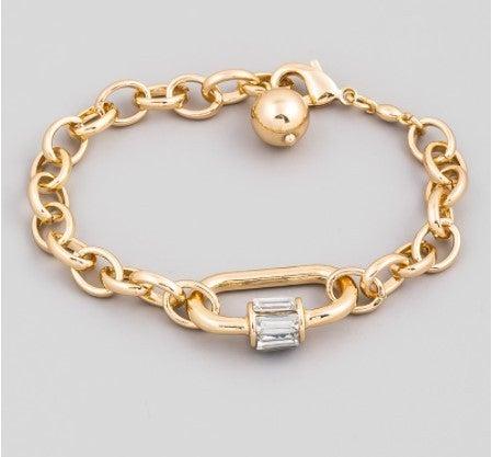 Circle Chain Link Carabiner Bracelet