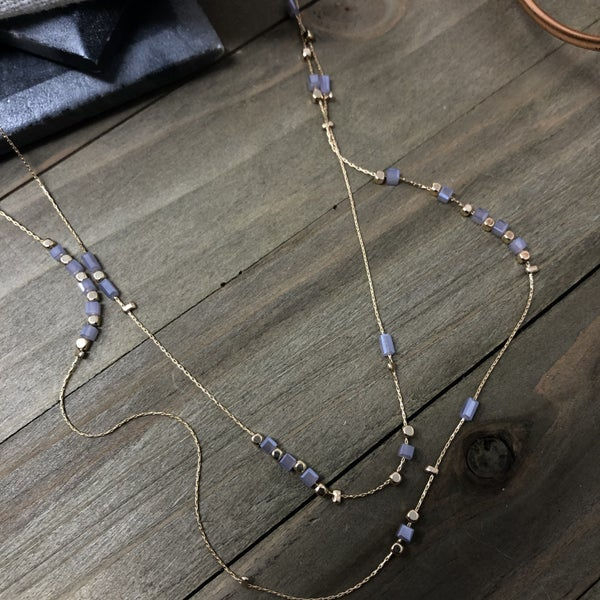 Double Layered Long Necklace