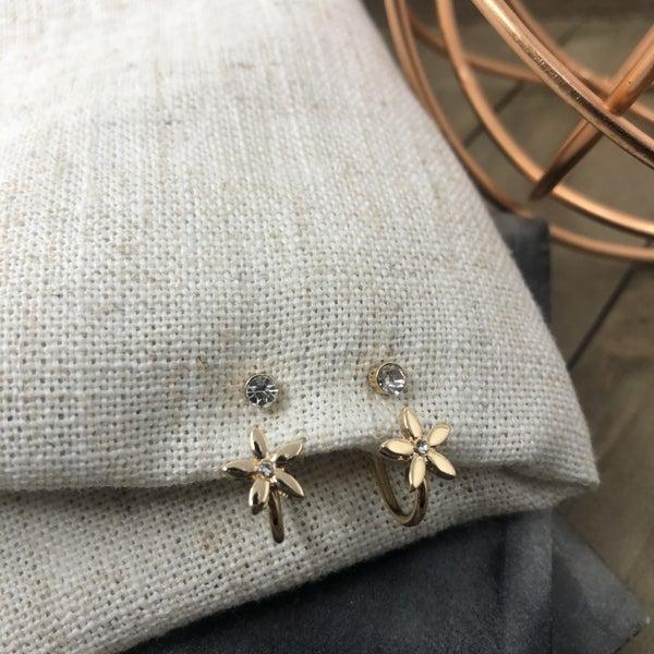 Flower Hoop Earring