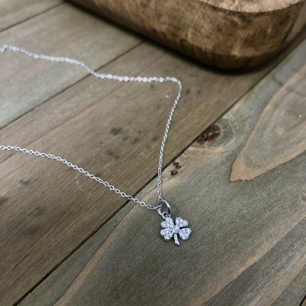 Sterling Silver Shamrock Necklace