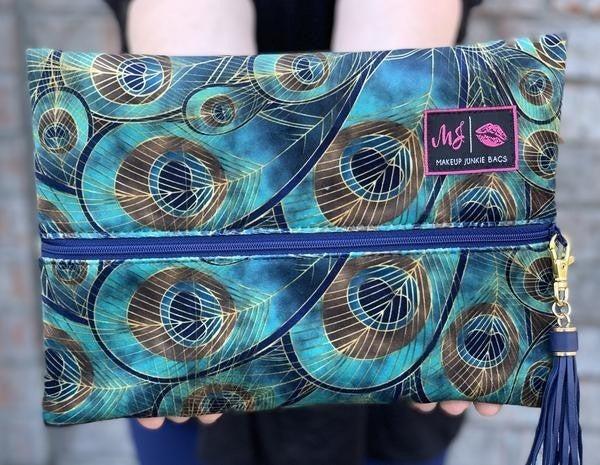 Peacock  Makeup Junkie Bags