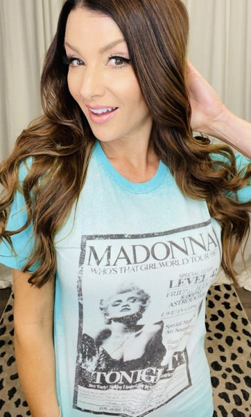 Madonna Bleach Splattered Tee