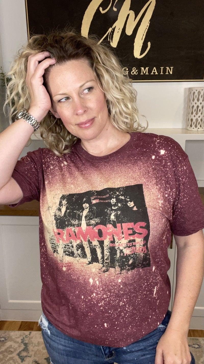 Ramones Bleach Splattered Tee