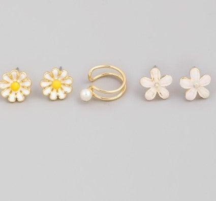 Mini Flower Stud Earrings Set
