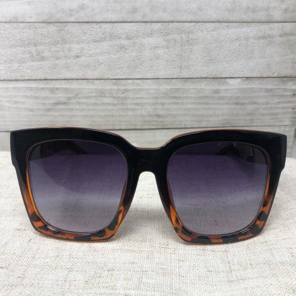 Square Oversize Sunglasses + Case