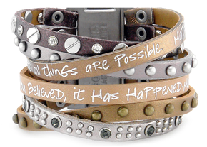 """Mineral Come Together """"Believe You Can"""" Wrap Bracelet *MYSTERY*"""