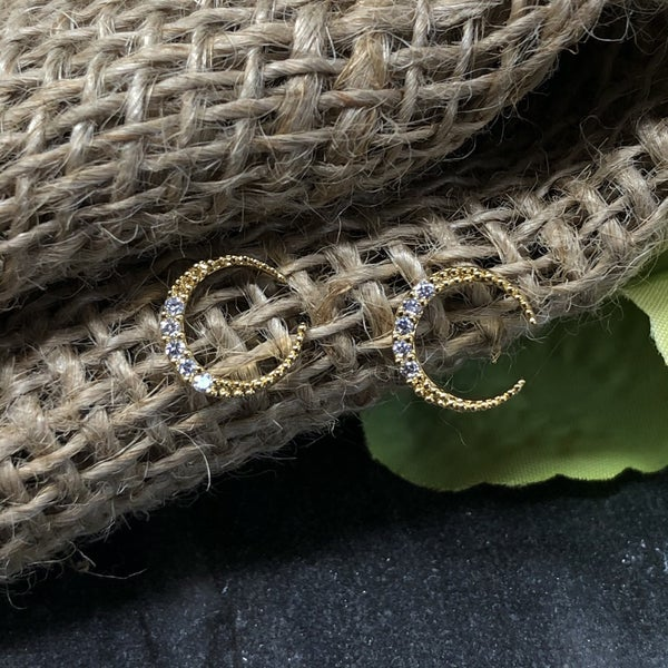 Over the Moon Crescent Earrings