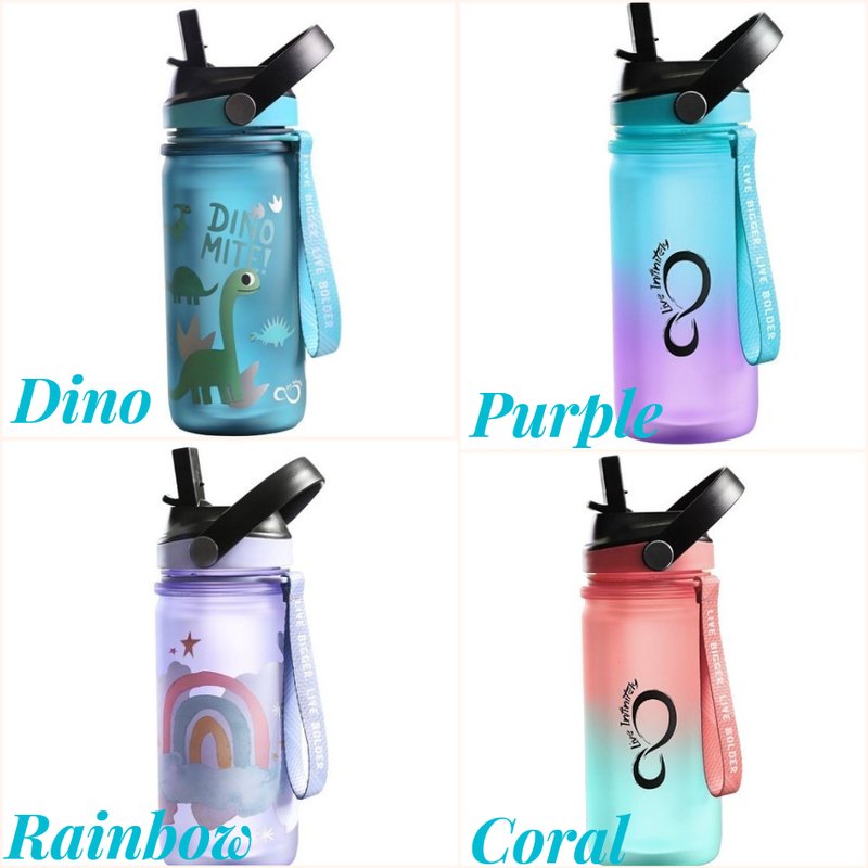 12 Oz Insulated Kids Bottle & Straw Lid