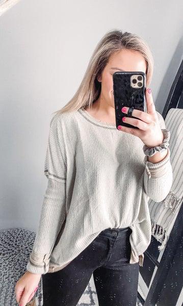 Soft Olive T-shirt Layer Longsleeve