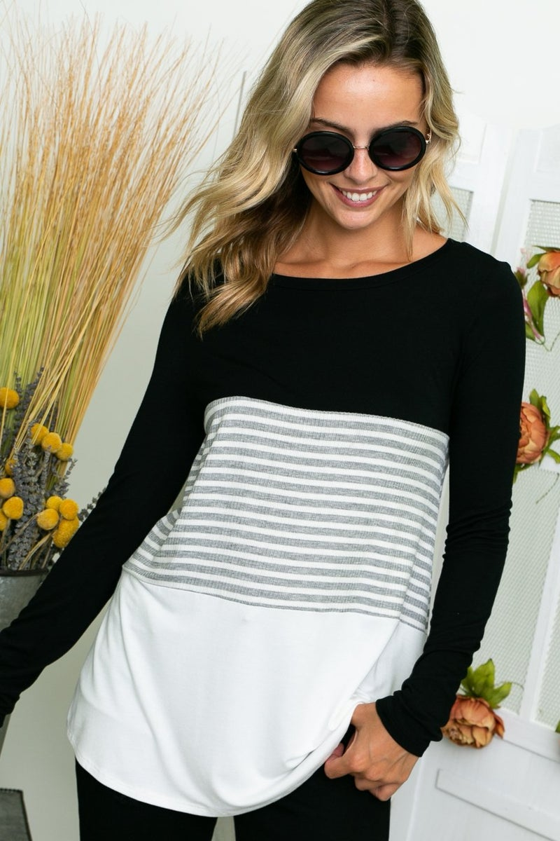 Solid & Stripe Block Long Sleeve