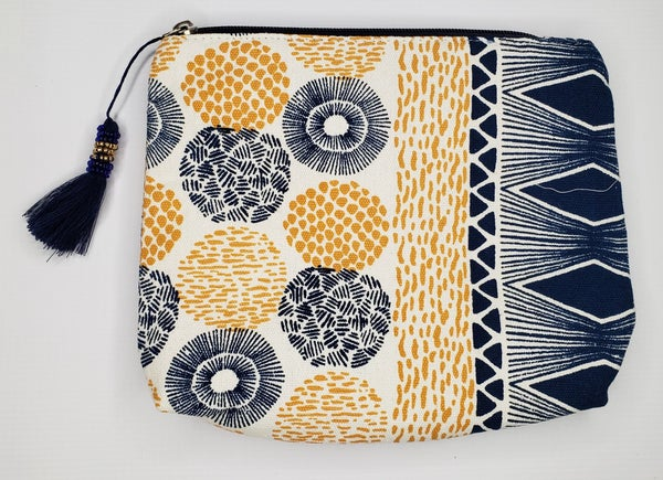 Stylish Abstract Tassel Pouch