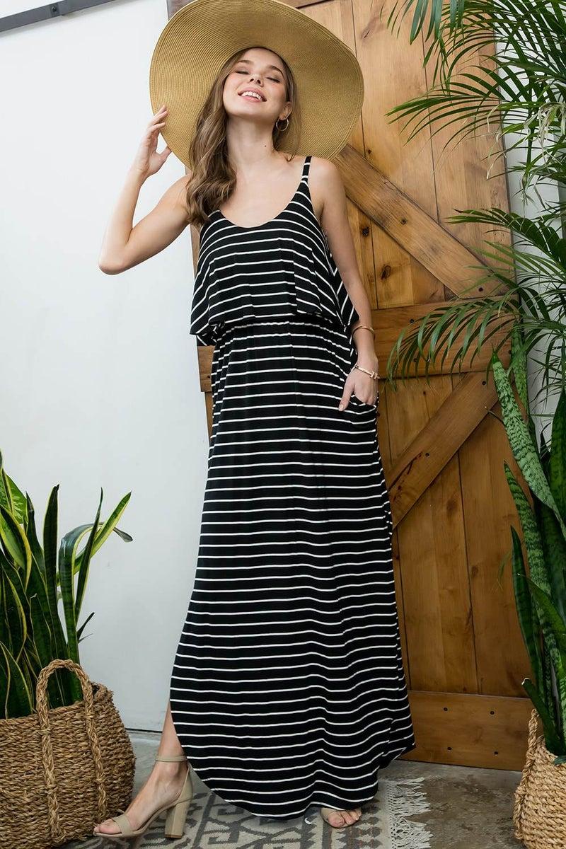 Stripe Maxi Sundress *Final Sale*