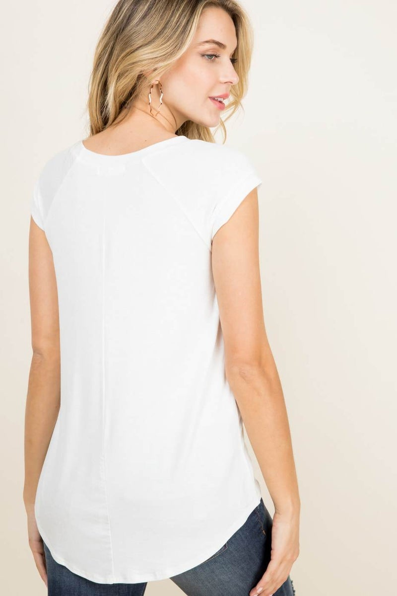 Solid White Tee