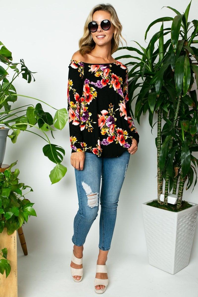 Floral One Shoulder Top