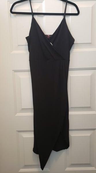 V Neck Black Dress Large *Final Sale*