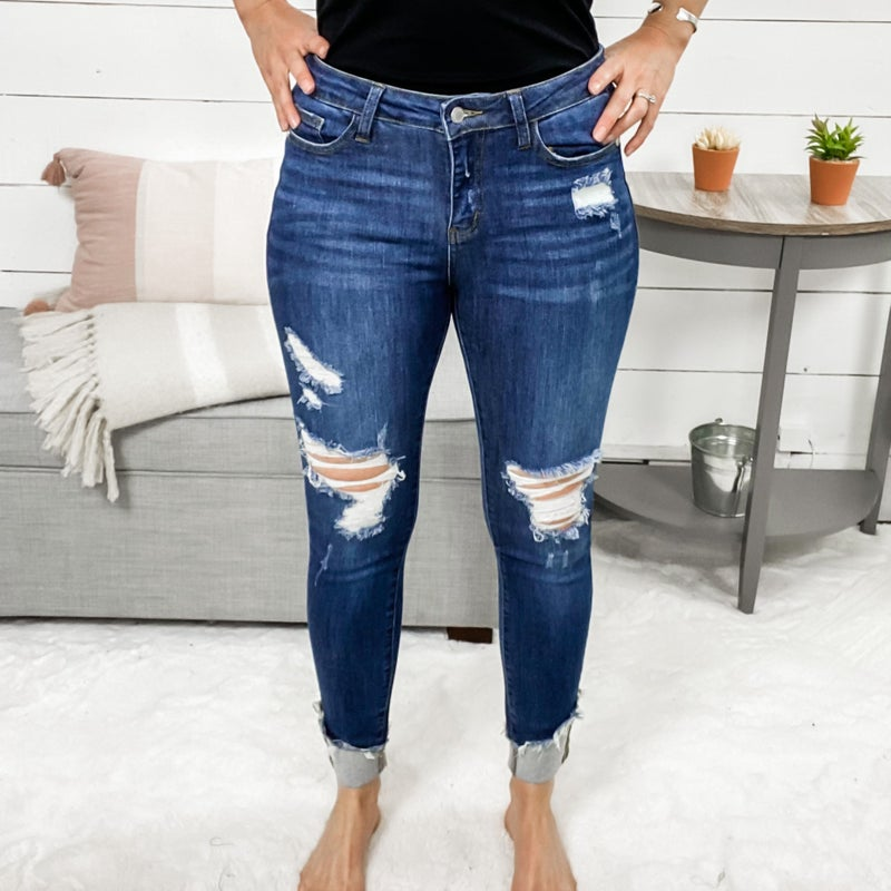 Too Distressed To Be Stressed Jeans