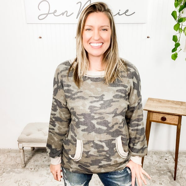Relax to the Max CAMO Top