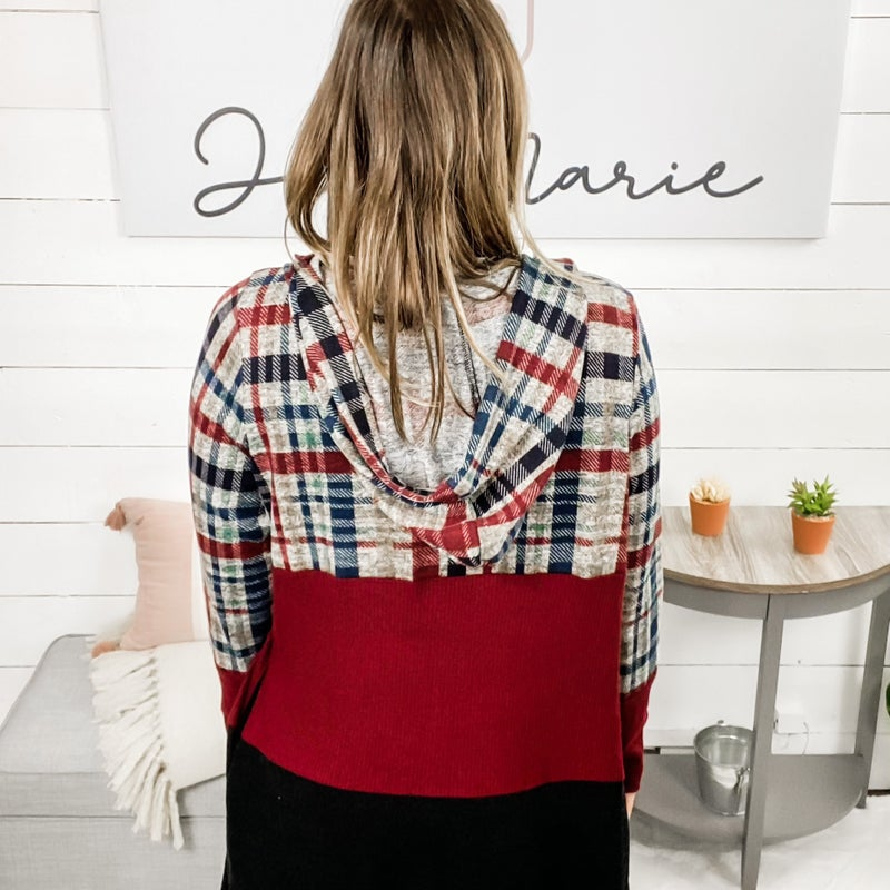 Cover All The Bases Hoodie Cardigan