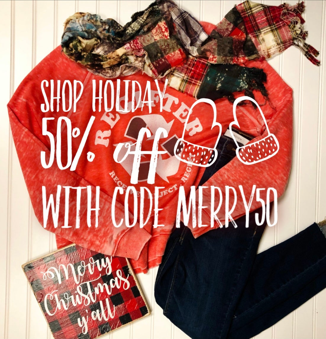 Shop holiday 50% off with code MERRY50