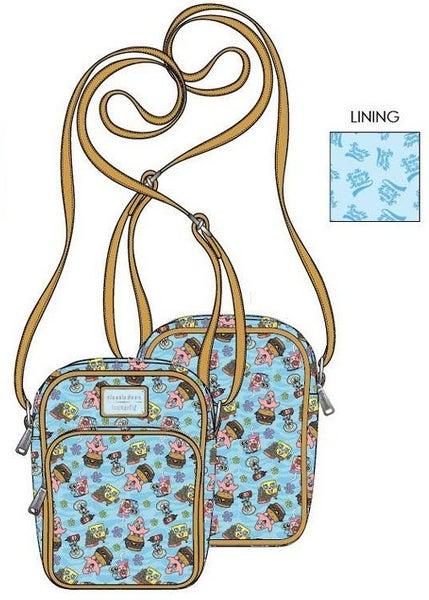 PREORDER Loungefly Spongebob gang AOP passport bag Expected late June