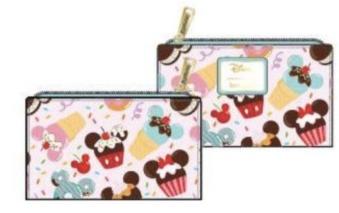 Mickey & minnie Mouse Sweets Icecream Flap Wallet Loungefly - PRE-Order late February