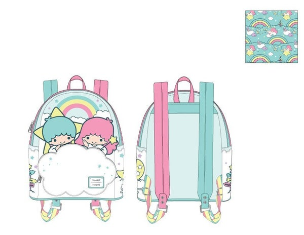 Sanrio Little Twin Stars Rainbow Cloud Mini Backpack Loungefly - PRE-ORDER Late February
