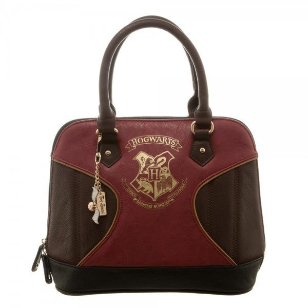 Harry Potter Gold Hogwarts Crest Print Dome Handbag