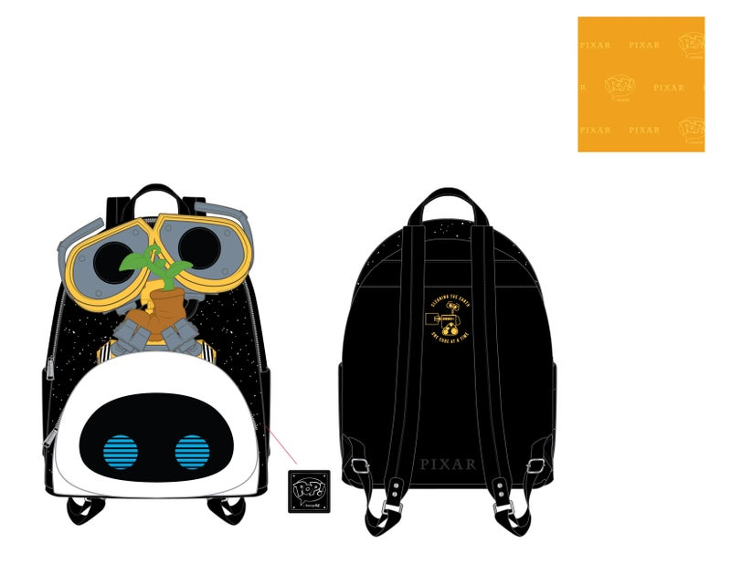 Wall-e Eve Boot Earth Day Cosplay Mini Backpack Pixar Pop by Loungefly PRE-ORDER