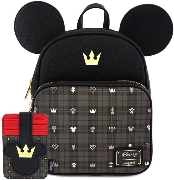 Disney Kingdom Hearts Mickey Mini Backpack and/or Card Holder Loungefly