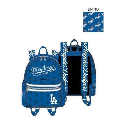 LOUNGEFLY LA DODGERS DODGER BLUE AOP BACKPACK - PREORDER