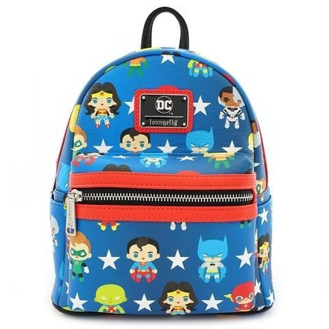 Justice League Loungefly AOP Mini Backpack