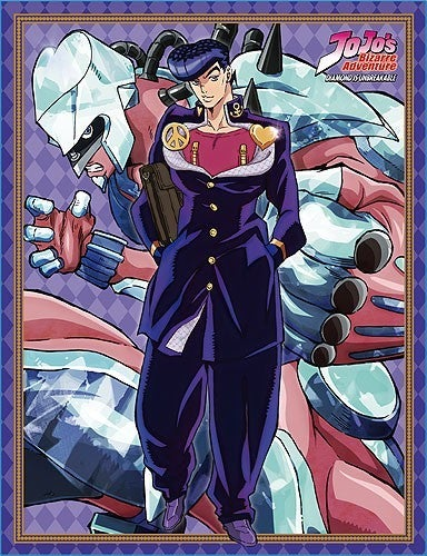 JOJO'S BIZARRE ADVENTURES JOSUKE & SHINING DIAMOND  SUBLIMATED THROW BLANKET