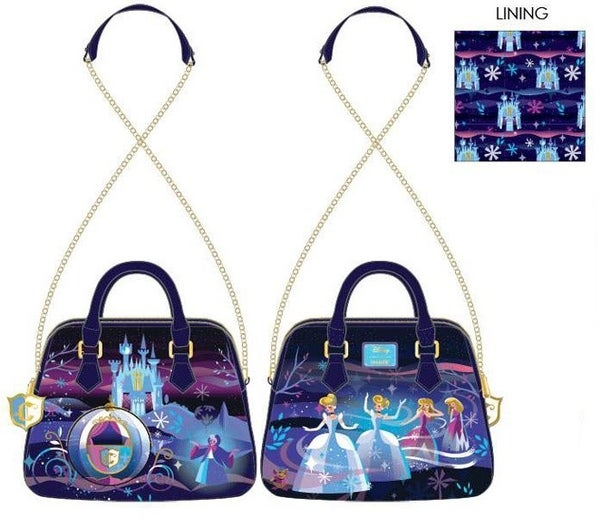 PREORDER Loungefly Disney Cinderella castle series chain strap crossbody Expected Late June