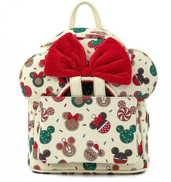 Disney Christmas Mickey & Minnine Cookie Backpack w/ EARS and/or  Wallet Option Loungefly