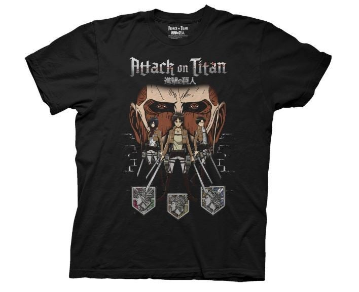 ATTACK ON TITAN IN THE SHADOWS ADULT MENS T-SHIRT