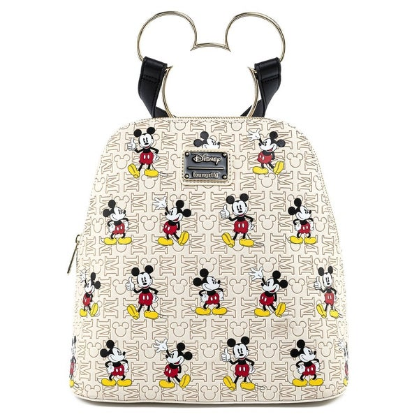 MICKEY Head Hardware aop SET, MINI BACKPACK & WALLET Option [PRE-ORDER - OCTOBER  DELIVERY] LOUNGEFLY